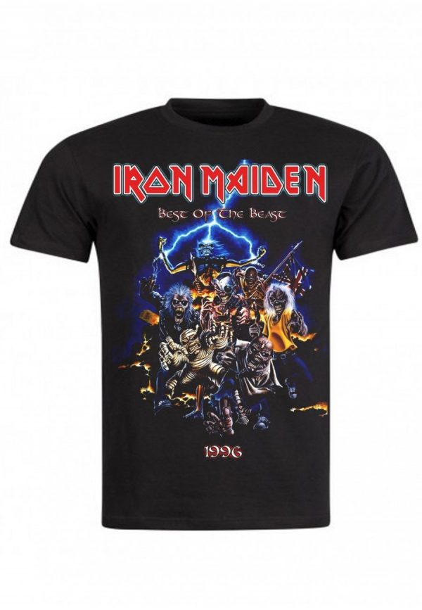 rock vintage t shirt iron maiden best of the beast